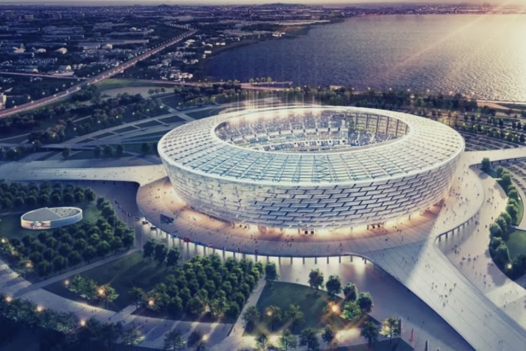 Building, Arena, Stadium, architecture projects, Baku Olympic Stadium