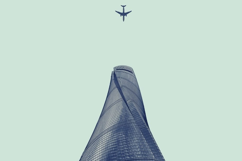 Triangle, Aircraft, Airplane, architecture projects, Shanghai Tower