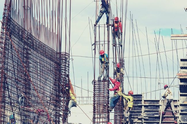 Construction, Scaffolding, Person