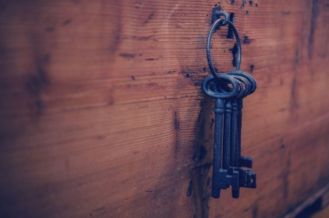 Key, Wood, Rust