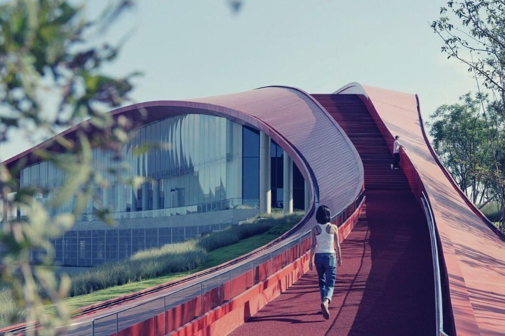Vue de jour d'un bâtiment en Chine