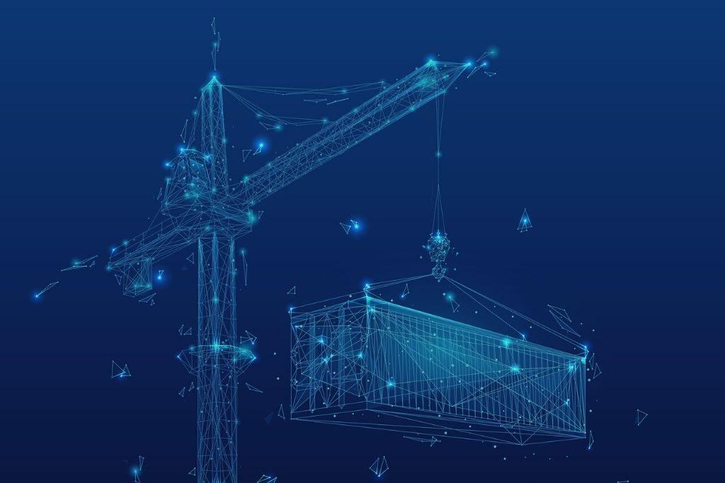 Construction Crane, Lighting, Construction
